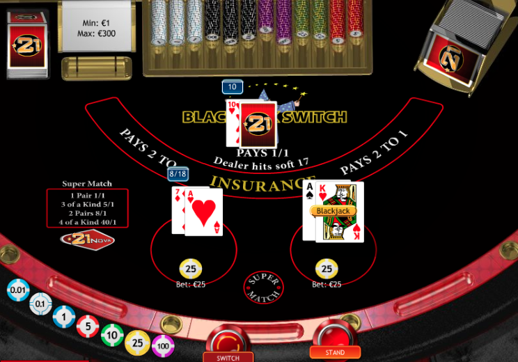 Play Blackjack Switch Online at Casino.com South Africa