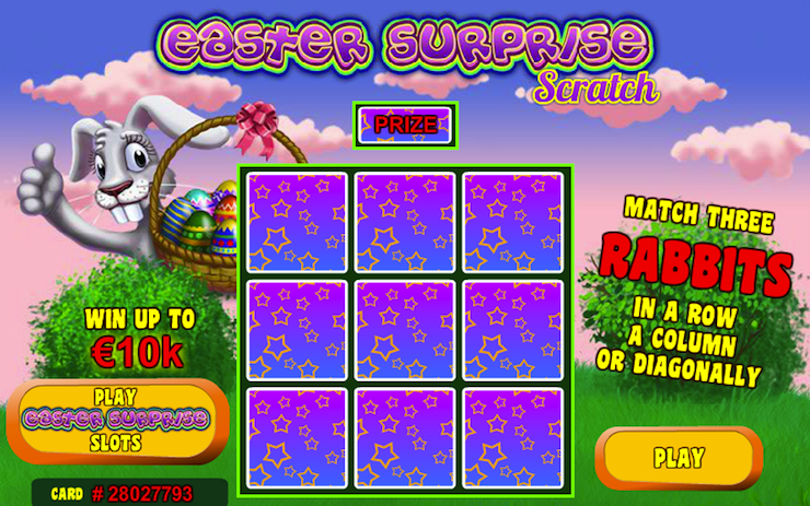Play Easter Surprise Scratch Cards at Casino.com
