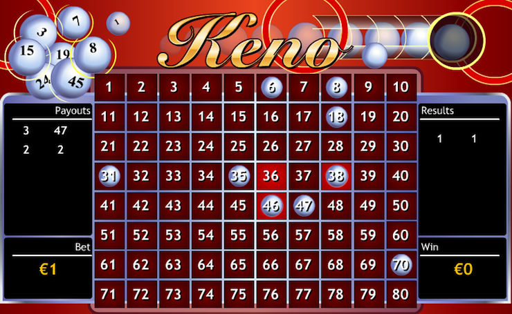 Keno in the online casino!