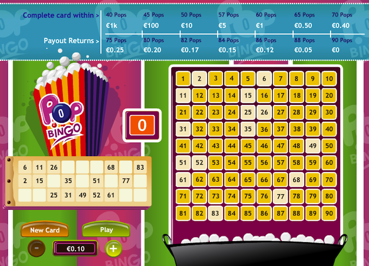 Pop Bingo Online play!