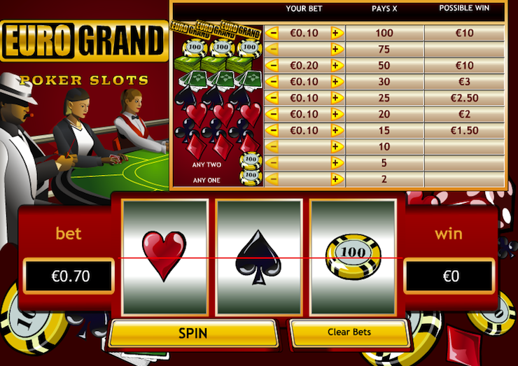 online casino poker free spin game