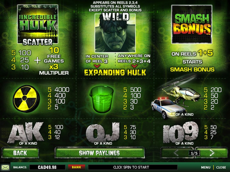 free 3d casino slots the hulk pictures edward